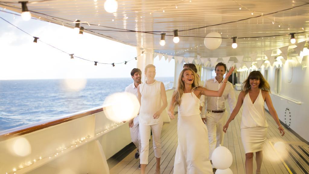 P&O Cruises Bianco White Nights party