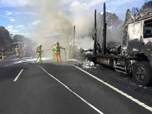 Hume Highway truck fire causes delays