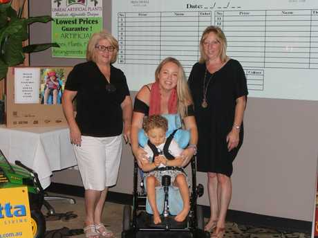 TEAM COOPER: Sandra Svendsen, Shanowah Wyatt with 3 year old Cooper Milner.