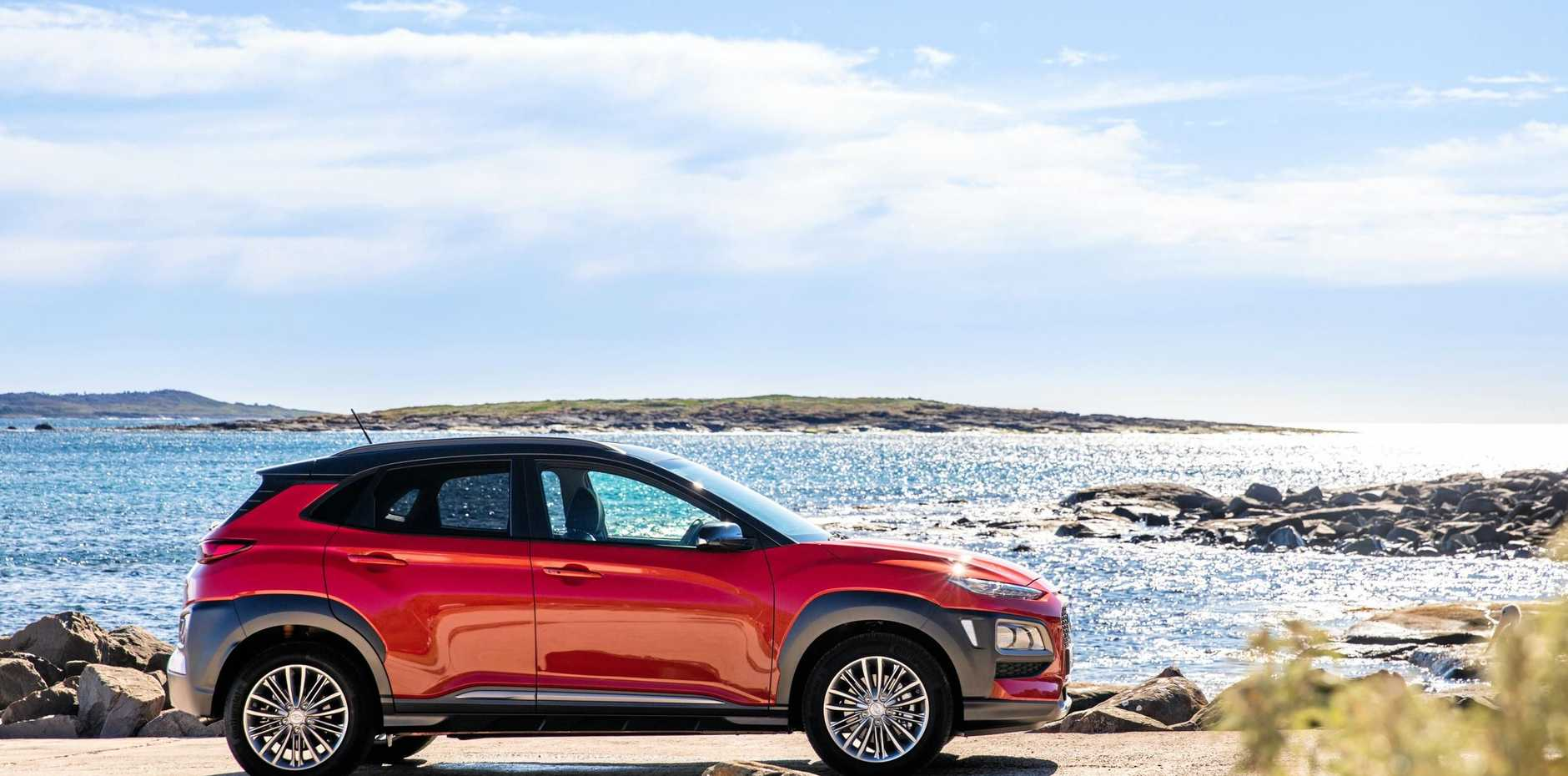 The Hyundai Kona is in dealerships now.