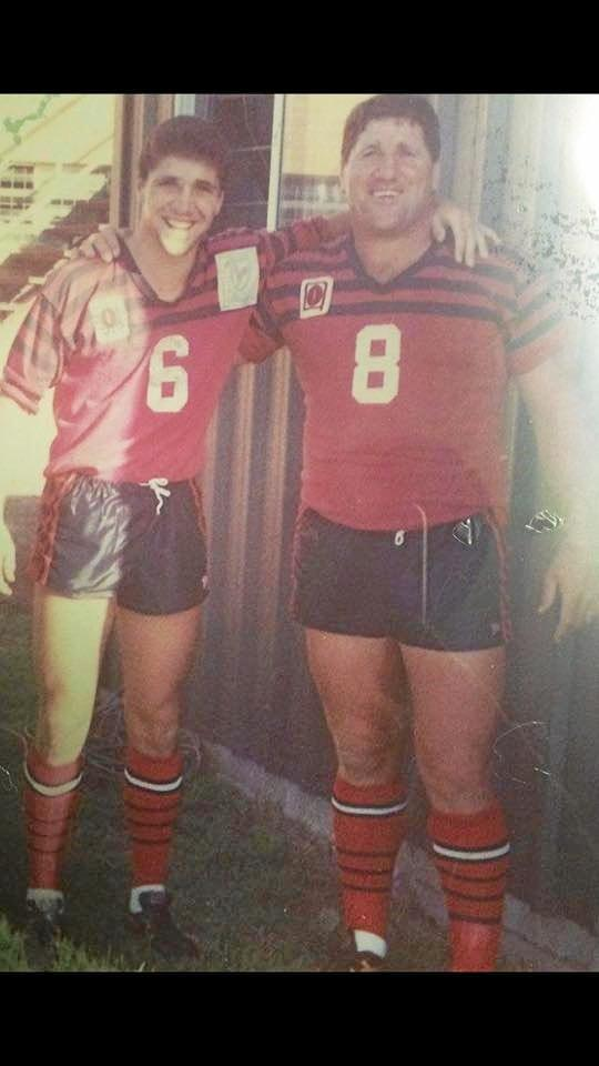 The last time the father and son duo played on the same team was for Valleys Roosters in 1990.