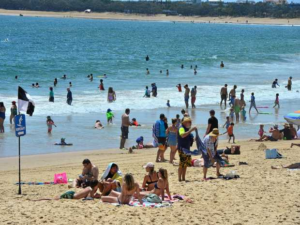 MOOLOOLABA Beach packed with tourists last Christmas Eve. They are the lifeblood of the regional economy.