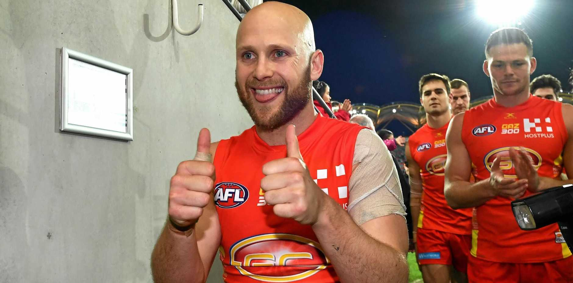 Gary Ablett following his 300th game earlier this season.