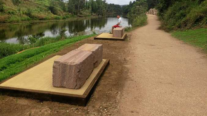 JUST BEAUTIFUL: Impressive stone seating along a picturesque, accessible stretch of the river.
