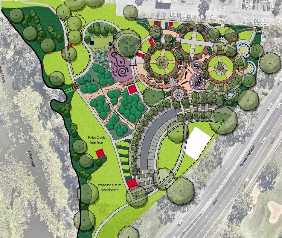 BIG PROJECT: Lions Park at Kin Kora is currently undergoing a $3.3 million redevelopment with work scheduled to be finished by November 30. BELOW: New features are beginning to appear on the Lions Park site.