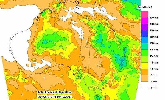 BOM weather forecaster Richard Wardle says the region can expect a series of increasingly heavier showers starting from Wednesday.