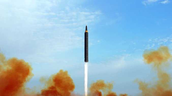 Undated file photo distributed by the North Korean government shows what was said to be the test launch of an intermediate range Hwasong-12 in North Korea.  (Korean Central News Agency/Korea News Service via AP, File)