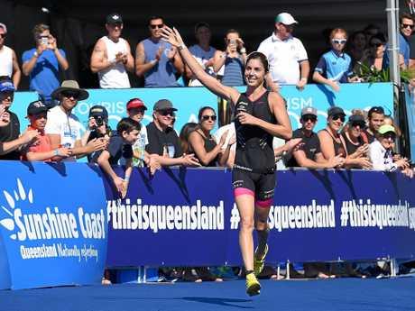 VICTOR: Ashleigh Gentle won the Noosa Triathlon last year.