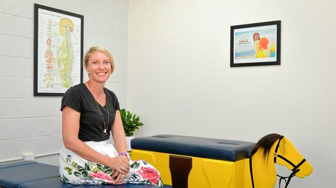 COMING HOME: Dr Alison Young, a children's chiropractor, is re-establishing her business in Gladstone after returning from South Korea.