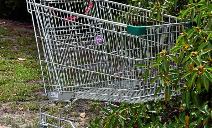 Lost trolleys are everywhere, but especially near shopping centres.