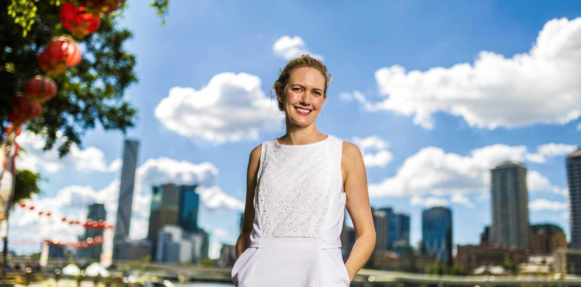 Anna Daniels at Brisbane's Southbank.