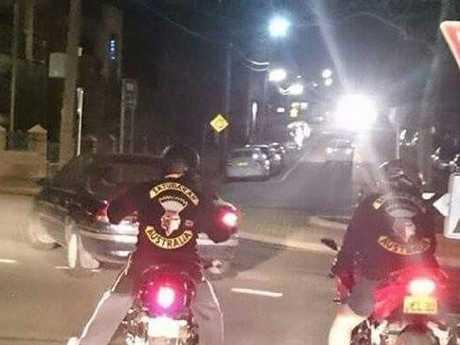 Satudarah Australia bikies on their bikes.