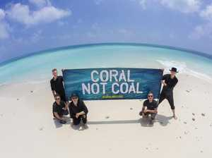 Midnight Oil take on Adani in fight for Great Barrier Reef