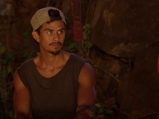 Jericho facing the Jury on Australian Survivor.