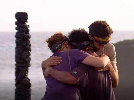 The final three contestants on Australian Survivor.