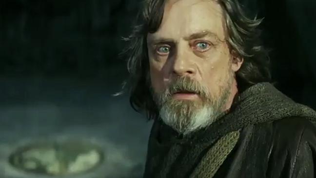 Mark Hamill in Star Wars 'The Last Jedi' official trailer.