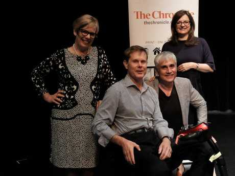 The Chronicle's Deb Hanfeld, Rohan Gosstray, real estate guru Tom Panos and deputy head of News Corp Studios Jane Scott.