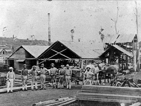 Ferguson's Sawmills was just one of many to pop up in Gympie during the boom days of timber and logging. Circa. 1872.