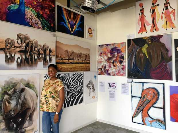 Kheis Art owner Tinaye Jani has opened a new art gallery in Brookwater.