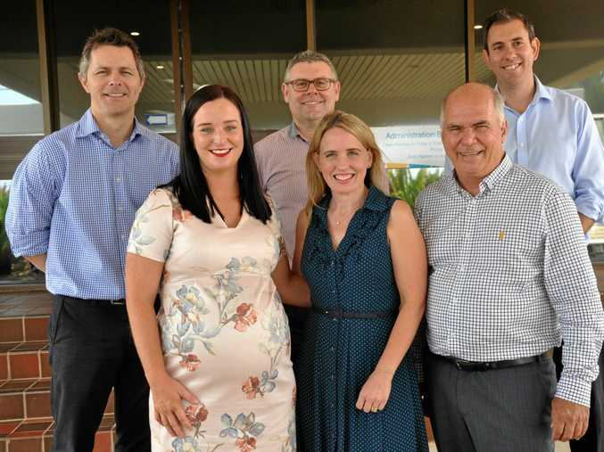 DISCUSSING NEEDS: At the meeting are Jim Chalmers MP, Senator Murray Watt, Jason Clare MP, Kate Jones MP, Brittany Lauga MP and Livingstone Mayor Bill Ludwig.