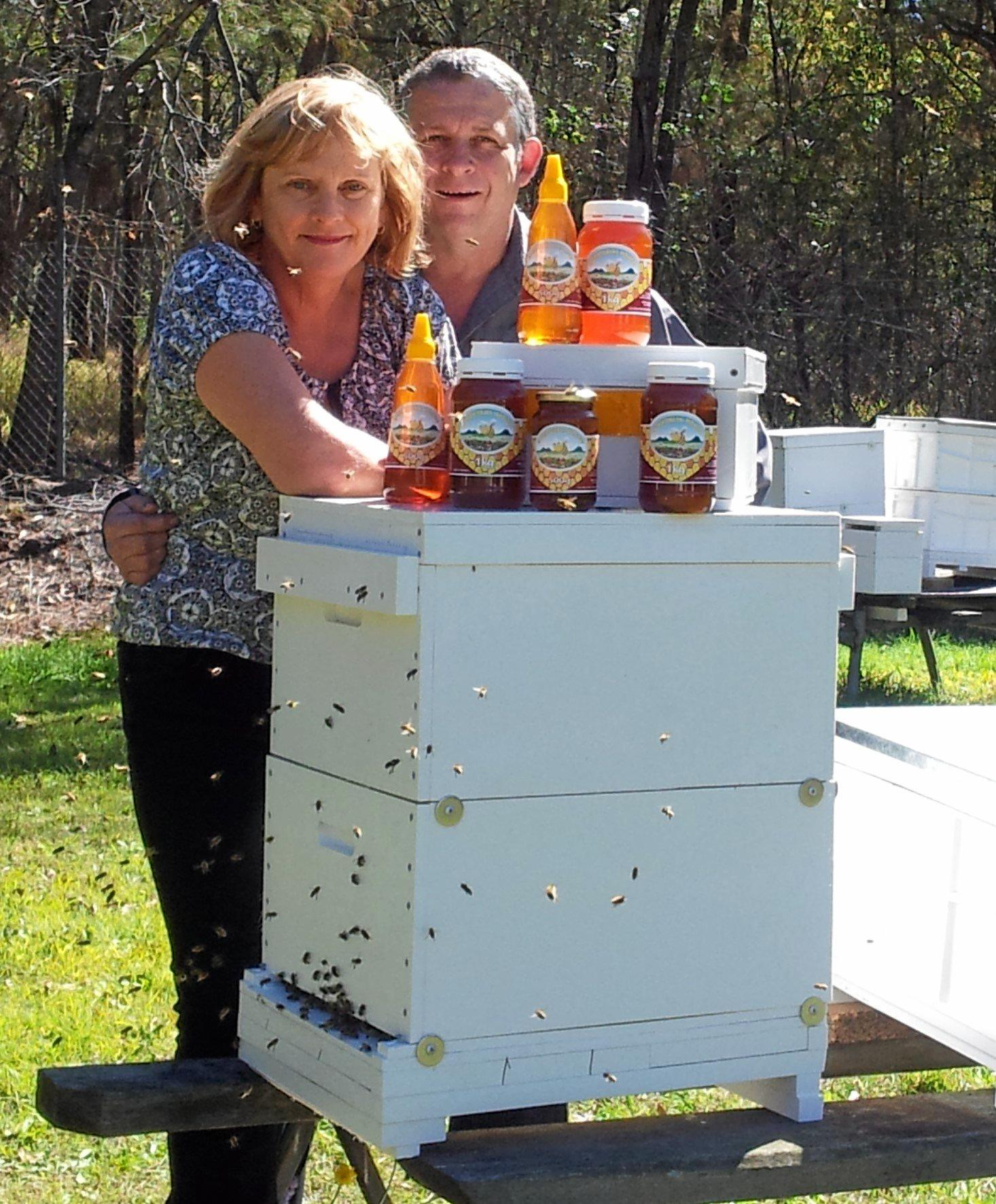 Ann and Jeff Ross of Hive Haven.    Photo Contributed