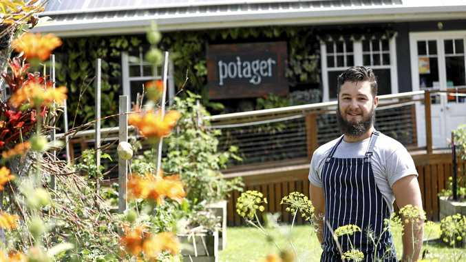 WELCOME RECOGNITION: Chef Tom Kadwell at Potager cafe in Carool.