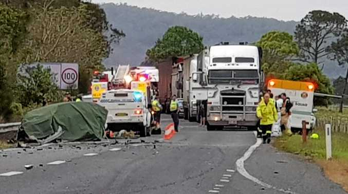FATAL CRASH: A Nambucca Heads man, 73, was killed when the car he was driving crashed into a B-double on the Pacific Hwy near Macksville on Saturday morning.