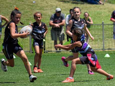 Action from the Australian Junior Oztag Championships played at C.ex Coffs International Stadium. 16 October 2016 Photo: Brad Greenshields/Coffs Coast Advocate APN