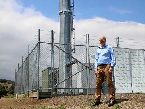 CONNECTED: Optus regulatory and public affairs vice-president Andrew Sheridan visits the site of the new tower in Emu Vale.