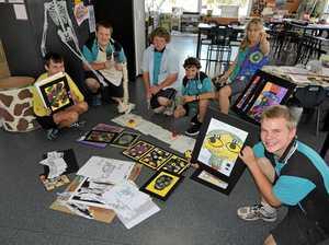 Maryborough students showcase their anatomy art
