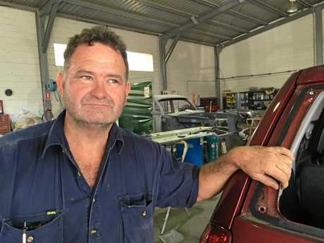 Kevin Plant (pictured) and wife Leesa were the victims of a sudden and aggressive car jacking in Gympie.
