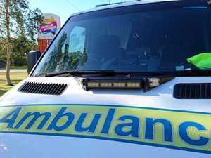 Semi-trailer crashes into car, car crashes into embankment