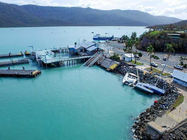 Scenes of devastation at Shute Harbour following Sever Tropical Cyclone Debbie.