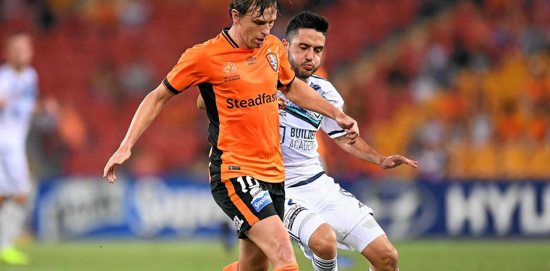 SADLY MISSED: The Brisbane Roar needs Brett Holman back after a lacklustre loss to Melbourne City.