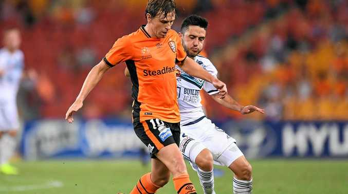 SADLY MISSED: The Brisbane Roar needs Brett Holman back after a lacklustre loss to Melbourne City.
