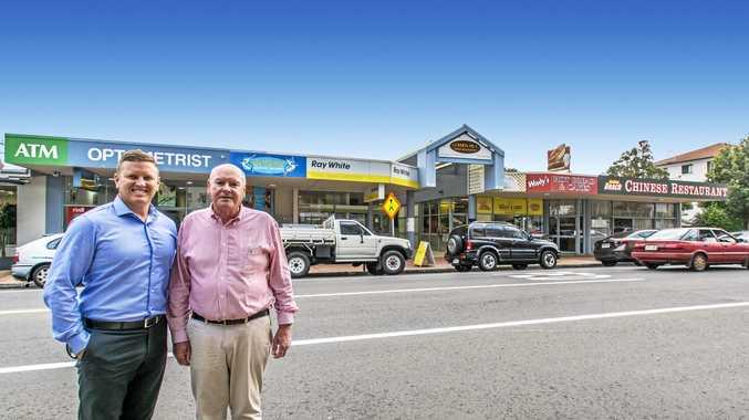 Brendan Robins and Peter Ward at 62 Landsborough Pde, Golden Beach.