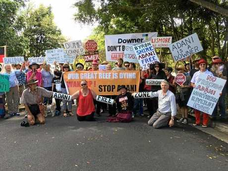 Adani protest outside Lismore City Council.