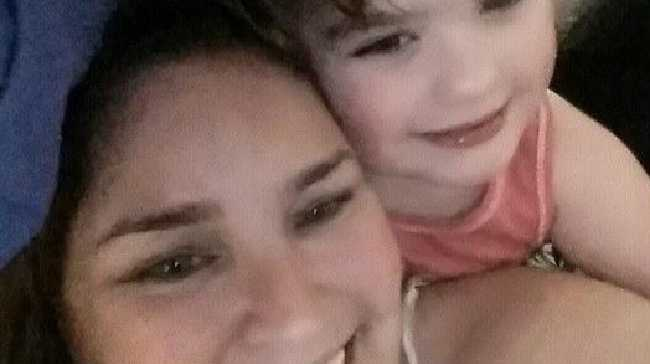 Tam Dover, left, pictured with her daughter Emily who is facing the menopause at five-years-old. Picture: FacebookSource:Facebook