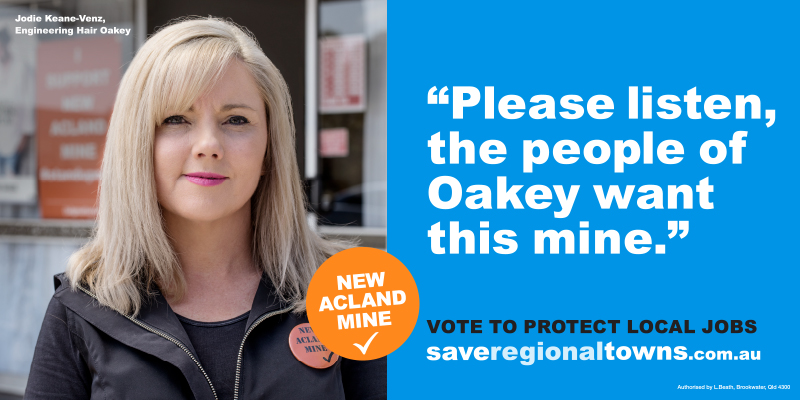 Oakey business owner Jodie Keane-Venz in the advertising campaign.