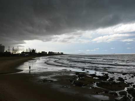 Storm and heavy rain on the Sunhine Coast. Dark clouds over Alexandra Headland Photo: Warren Lynam / Sunshine Coast Daily