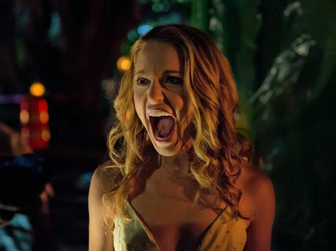 Jessica Rothe in a scene from the movie Happy Death Day.