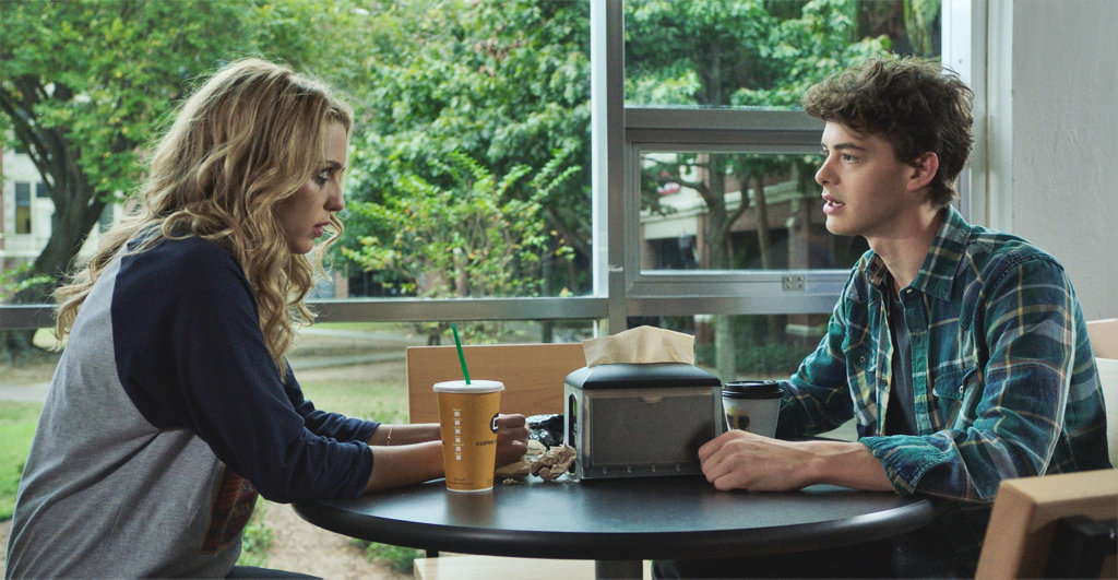 Jessica Rothe and Israel Broussard in a scene from Happy Death Day.
