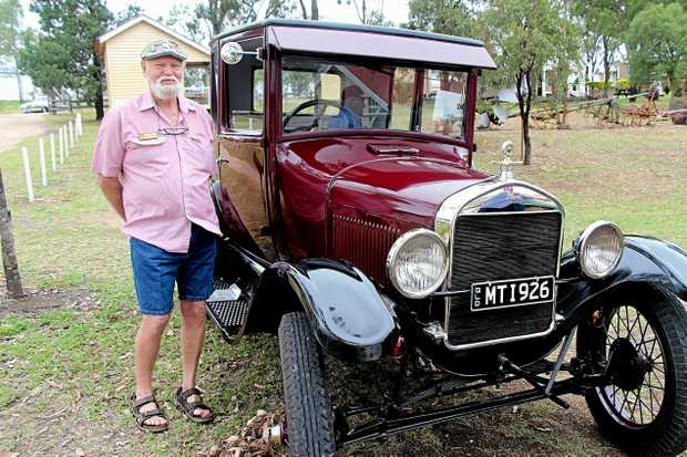 OTHER LOVE OF HIS LIFE: Dick Pakeman has spent the past year restoring his 1926 Model T Ford. He took it for its first run at the Lockyer Antique Motor Association annual invitational rally at the weekend.