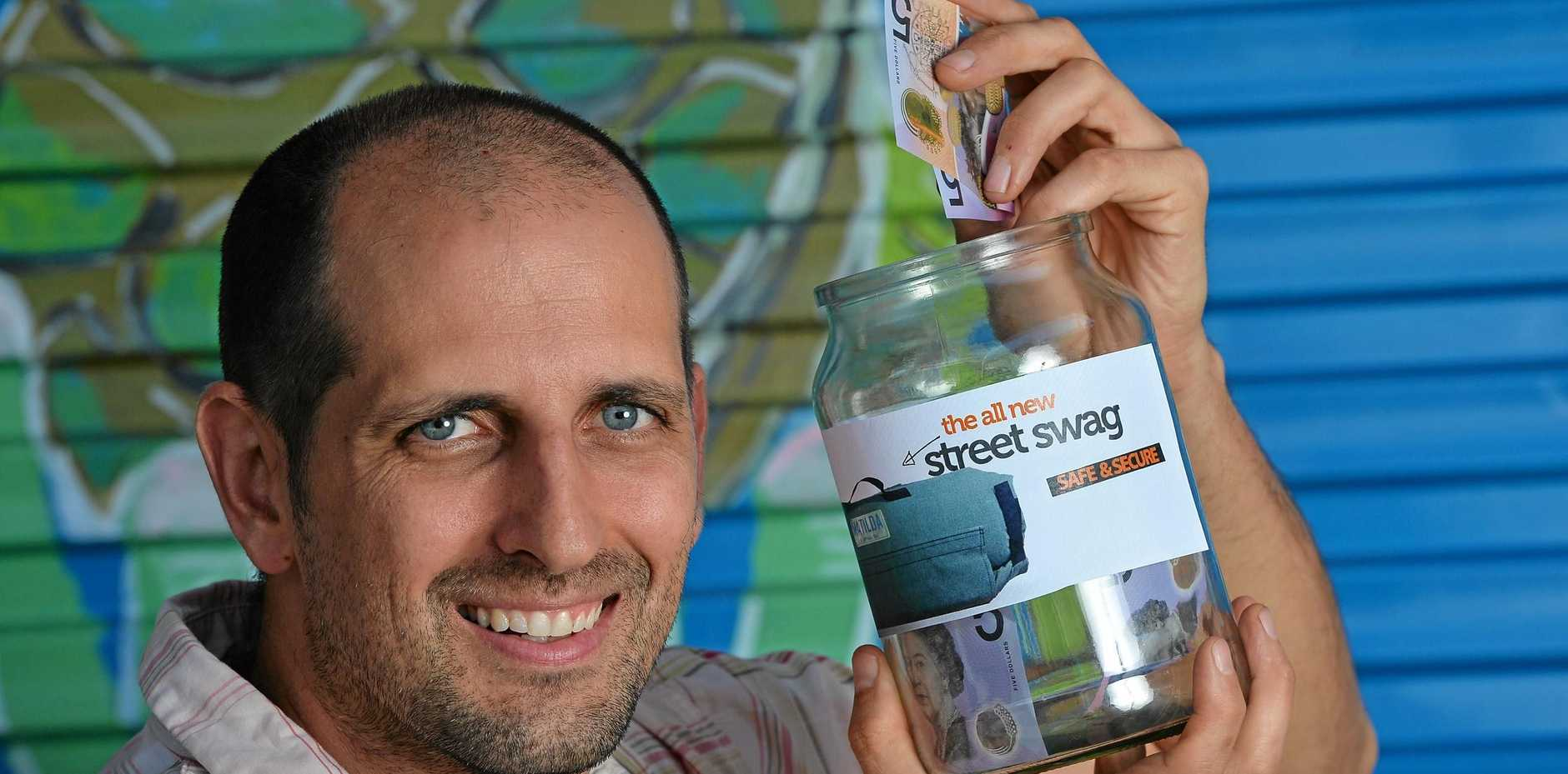 LENDING A HELPING HAND: Tomas Passeggi ramping up fundraising efforts for street swags.