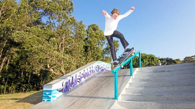 AIR BORNE: Suffolk Park Skate Park in action