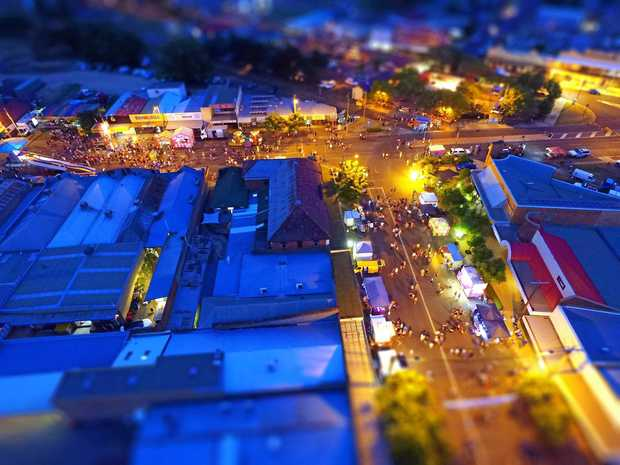 Jason Ford's previous Kingaroy Christmas Carnival from above.