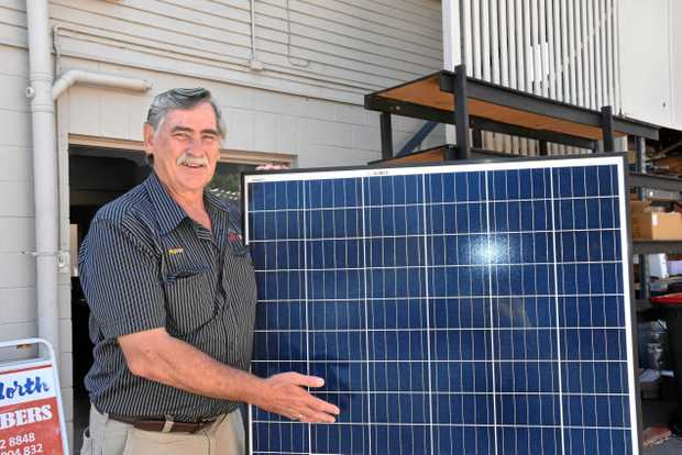 SOLAR SMART: Solar Power Energy owner Murray Kay says a big battery will save you money.
