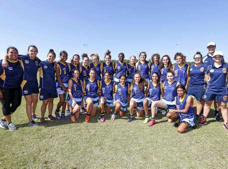 FOOTY CHAMPIONSHIPS: The feisty and fabulous members of the NSWACT team in 2017 Female Diversity Championships.