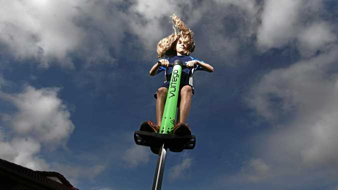 Alstonville 12-year-old Ewan Chate has broken an array of records on pogo sticks.