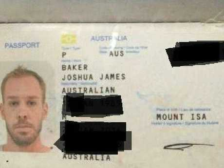 Joshua James Baker has been detained in Bali for drugs found in his luggage.